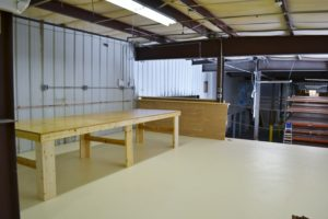 Part of our production area - where the magic happens!