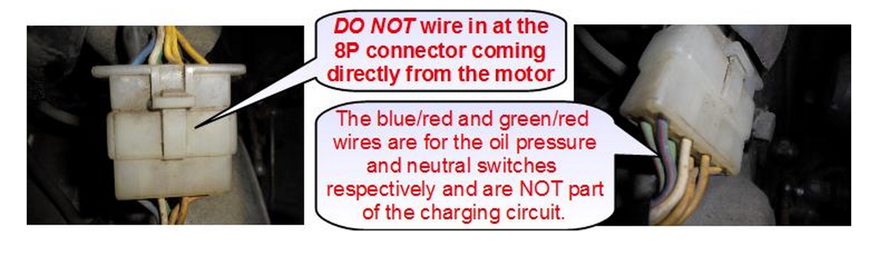 Aftermarket Honda Regulator Rectifier Oem Style Replacement Part Wiring Harness Pins Wires That Originally Were Going To The Tabs On Oe Color Code Remains Same 10 100 Plugs Into At